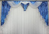 Ламбрекен из плотной ткани на карниз 2.5м. Код 119л322А) 60-030, фото 1