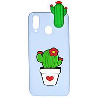 Чехол Cartoon 3D Case для Samsung A405 Galaxy A40 Кактусы