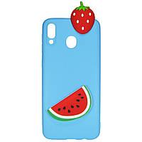 Чехол Cartoon 3D Case для Samsung A405 Galaxy A40 Арбуз