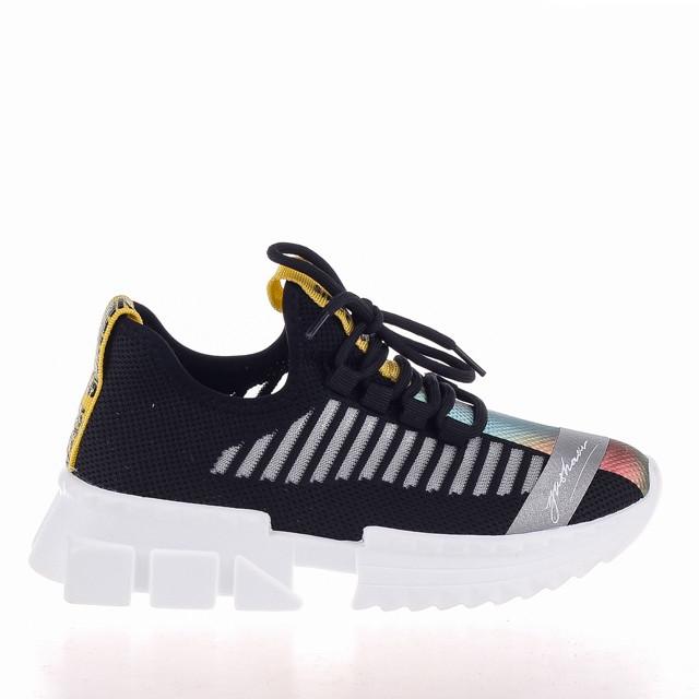 Стильні чорні кросівки Lonza 19092 BLACK весна 2020