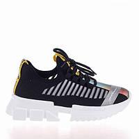 Стильные черные кроссовки Lonza 19092 BLACK весна 2020, фото 1