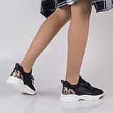Стильные черные кроссовки Lonza FLM90025 BLACK ВЕСНА 2020, фото 7