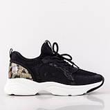 Стильные черные кроссовки Lonza FLM90025 BLACK ВЕСНА 2020, фото 6