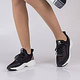 Стильные черные кроссовки Lonza FLM90025 BLACK ВЕСНА 2020, фото 4