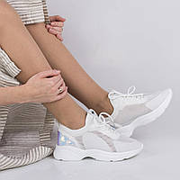 Женские  белые кроссовки Lonza FLM90025 WHITE весна 2020 /// FB90025 white, фото 1