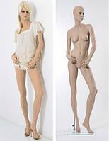 Манекены телесные на стеклянной подставке. Разные модели.