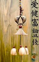 3 литых колокольчика фен-шуй на входную дверь L-40 см №9