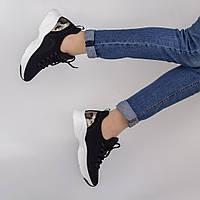 Стильные черные кроссовки Lonza FLM90021 BLACK весна 2020, фото 1