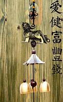 3 литых колокольчика фен-шуй на входную дверь L-40 см №11