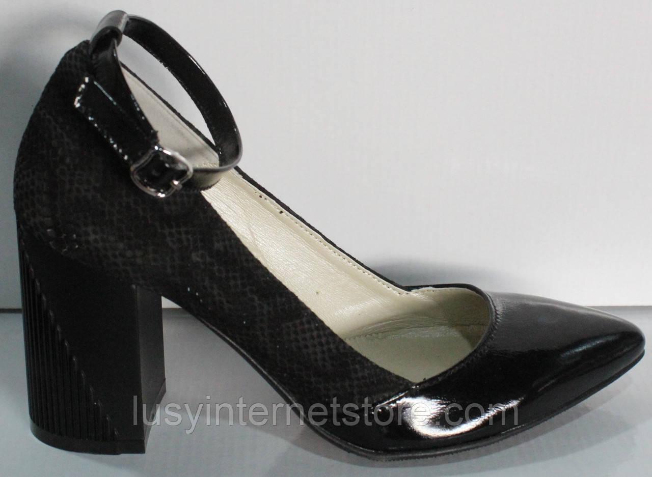 Туфли лодочки черные женские от производителя модель КЛ9011-8