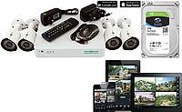 Комплект видеонаблюдения Green Vision GV-K-G02/04 720Р + диск 1Тb