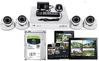Комплект 2МП камер Green Vision GV-K-S16/04 1080P + жесткий диск