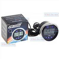 Автомобильные часы VST 7042V + термометр + вольтметр аккумулятора для ВАЗ 2103 2106 2107