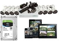 Комплект видеонаблюдения Green Vision GV-K-G03/08 + жесткий диск