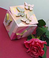 Подарок на день рождения или свадьбу: деревянная шкатулка для украшений. Ручная работа.