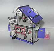 """Домик деревянный для кукол или флоксовых животных """"Мини"""" + мебель в подарок  ii"""