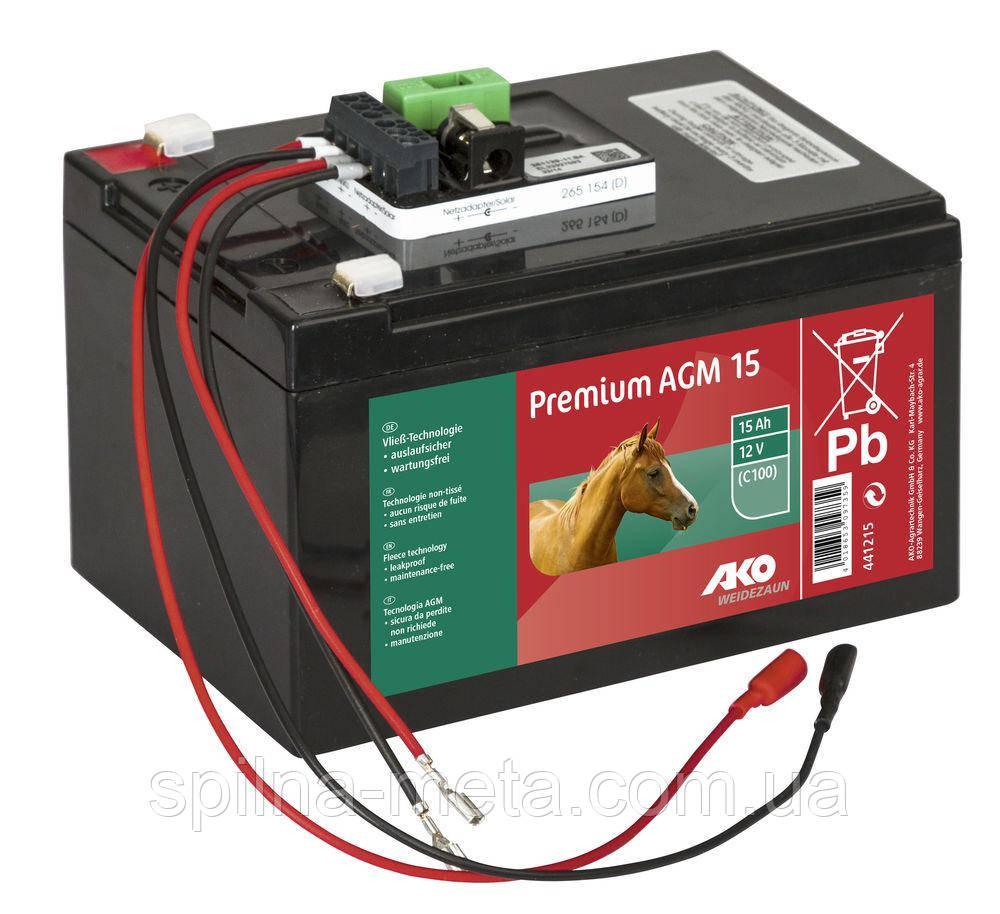 Аккумулятор гелевый 12V 15Ah для электроизгороди