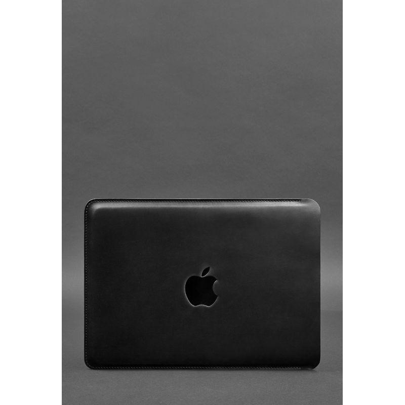 Кожаный чехол для MacBook Pro 13'' Черный