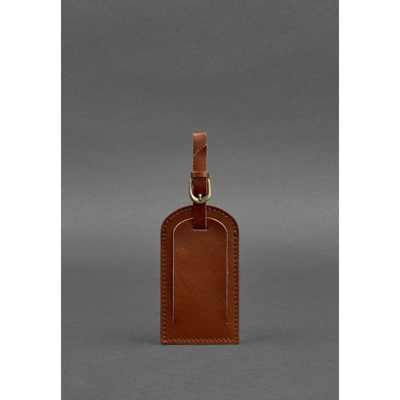 Кожаная бирка для багажа 2.0 Светло-коричневая