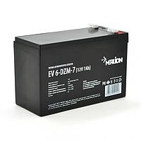 Тяговая аккумуляторная батарея Merlion EV 6-DZM-7 12V 7Ah F2