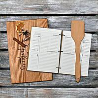 Набор для кухни. Деревянный блокнот, разделочная доска и лопатка. (A00103), фото 1