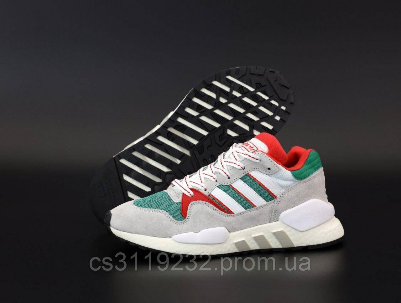 Мужские кроссовки Adidas EQT (серо-зелёные)