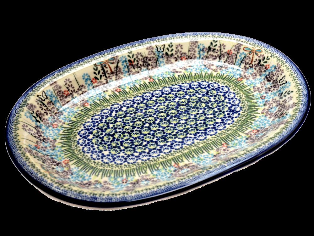 Блюдо овальное среднее с полями 29 Lavender field
