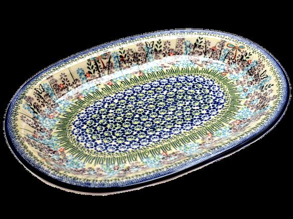 Блюдо овальное среднее с полями 29 Lavender field, фото 2
