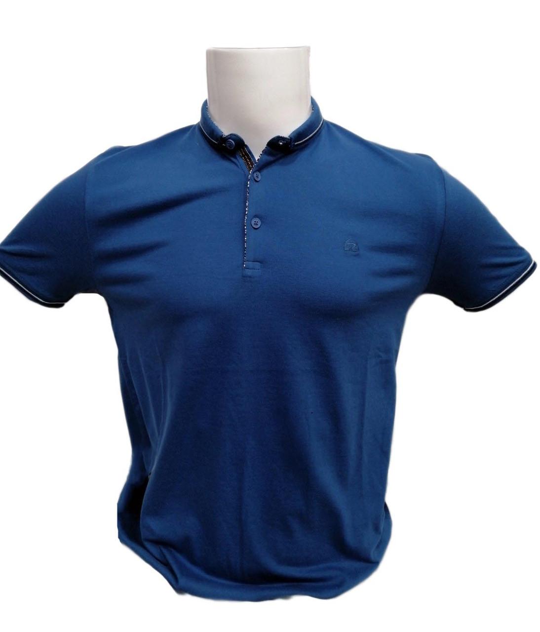 Футболка поло мужская STEEL WAY из ткани ла коста Синяя