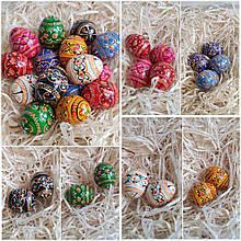 Яйце дерев 'яне крашене, до Великодня, пасхальне, для корзини, вис. 4 см., 15/10 (цена за 1 шт.+5гр)