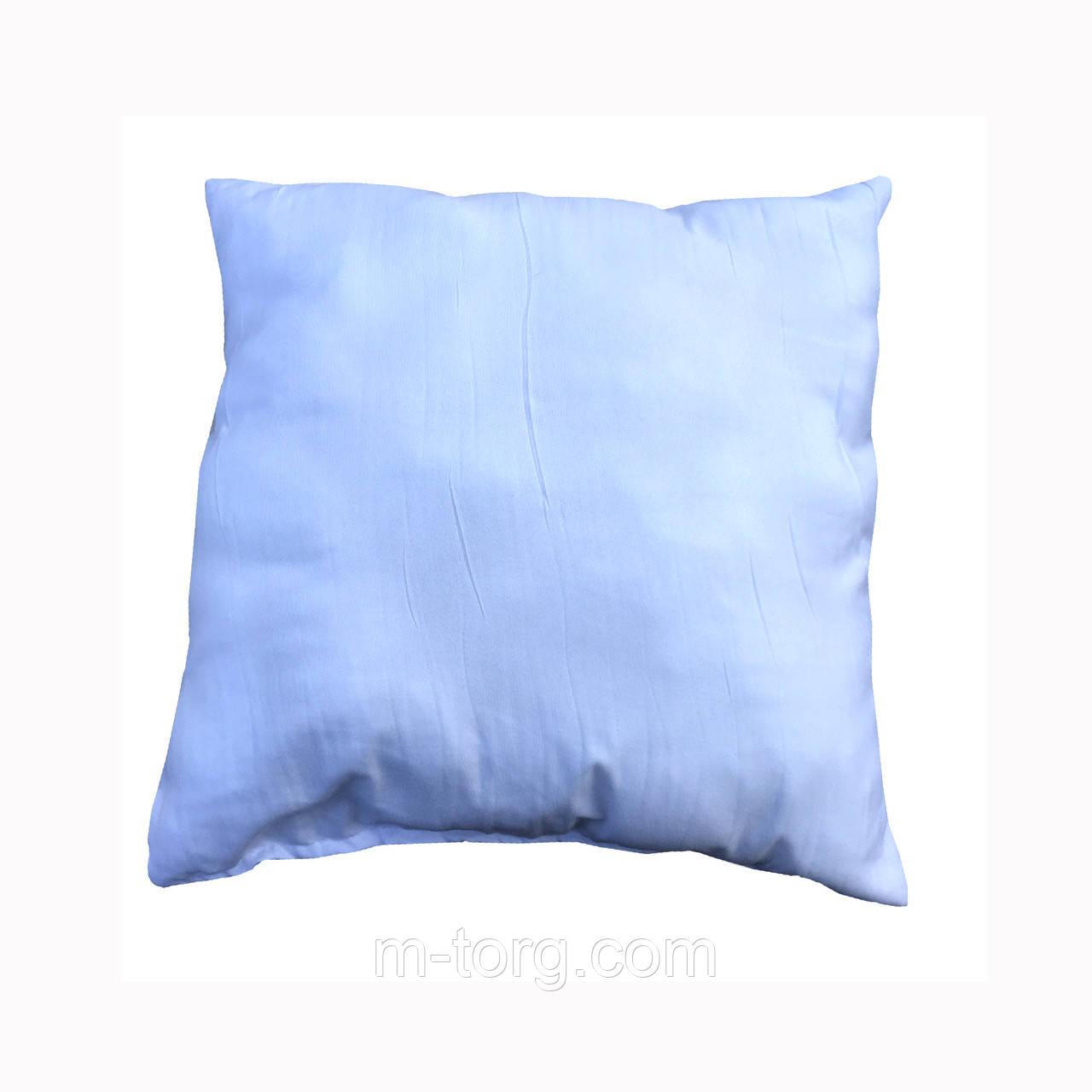 Белая подушка для декоративной наволочки 50/50, силикон