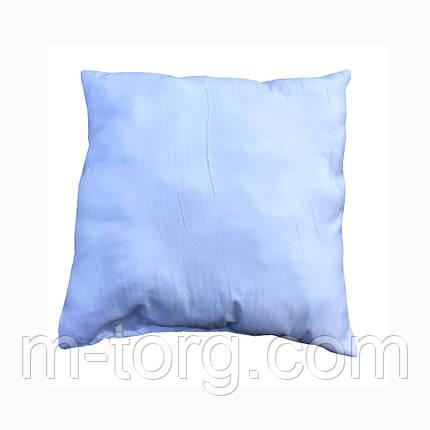 Белая подушка для декоративной наволочки 50/50, силикон, фото 2