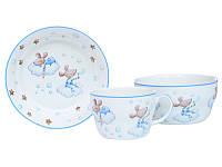 Набор детской посуды Lefard Мышки 3 предмета  924-487