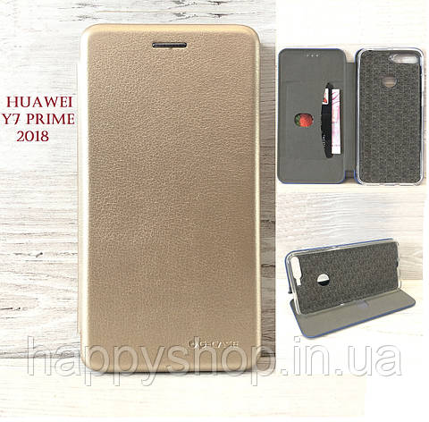 Чехол-книжка G-Case для Huawei  Y7 Prime 2018 (LDN-L21) Золотистый, фото 2
