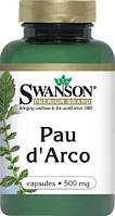 Природный антибиотик - кора муравьинного дерева Пау дарко / Pau d'Arko, 500 мг 100 капсул, фото 1