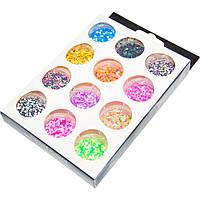 Набор разноцветных шестигранников-блесток-конфетти