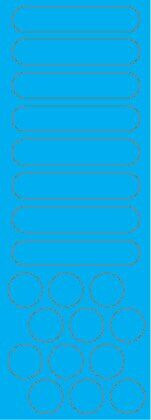 Наліпка світловідбиваюча на шолом блакитна
