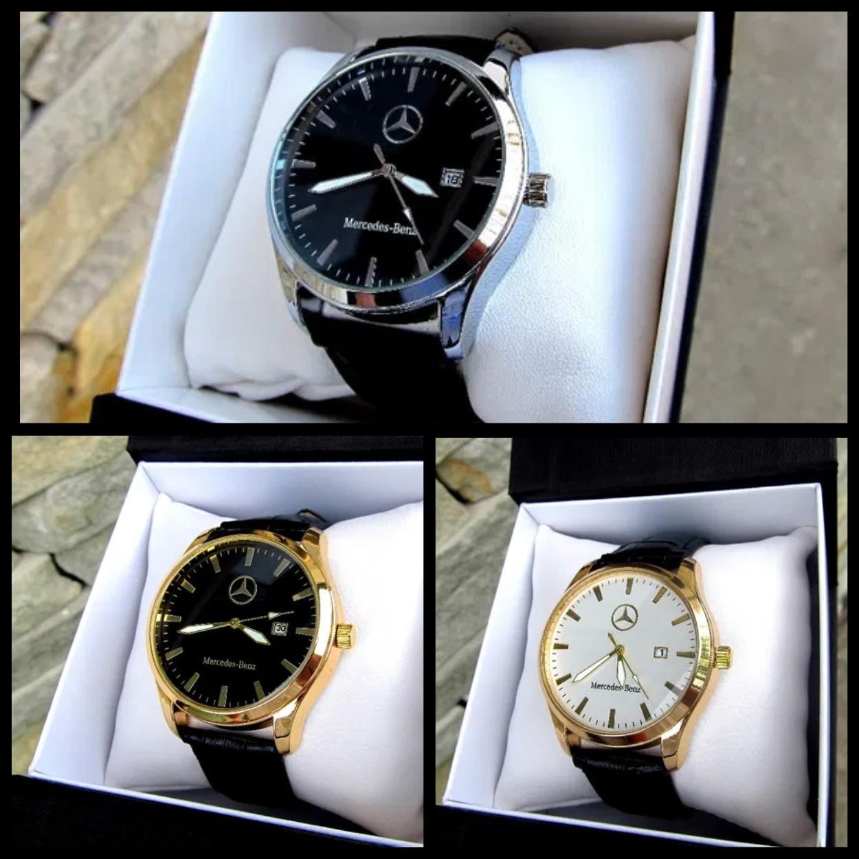 Супермодные мужские кварцевые часы  Mercedes-Benz  Реплика Качество!