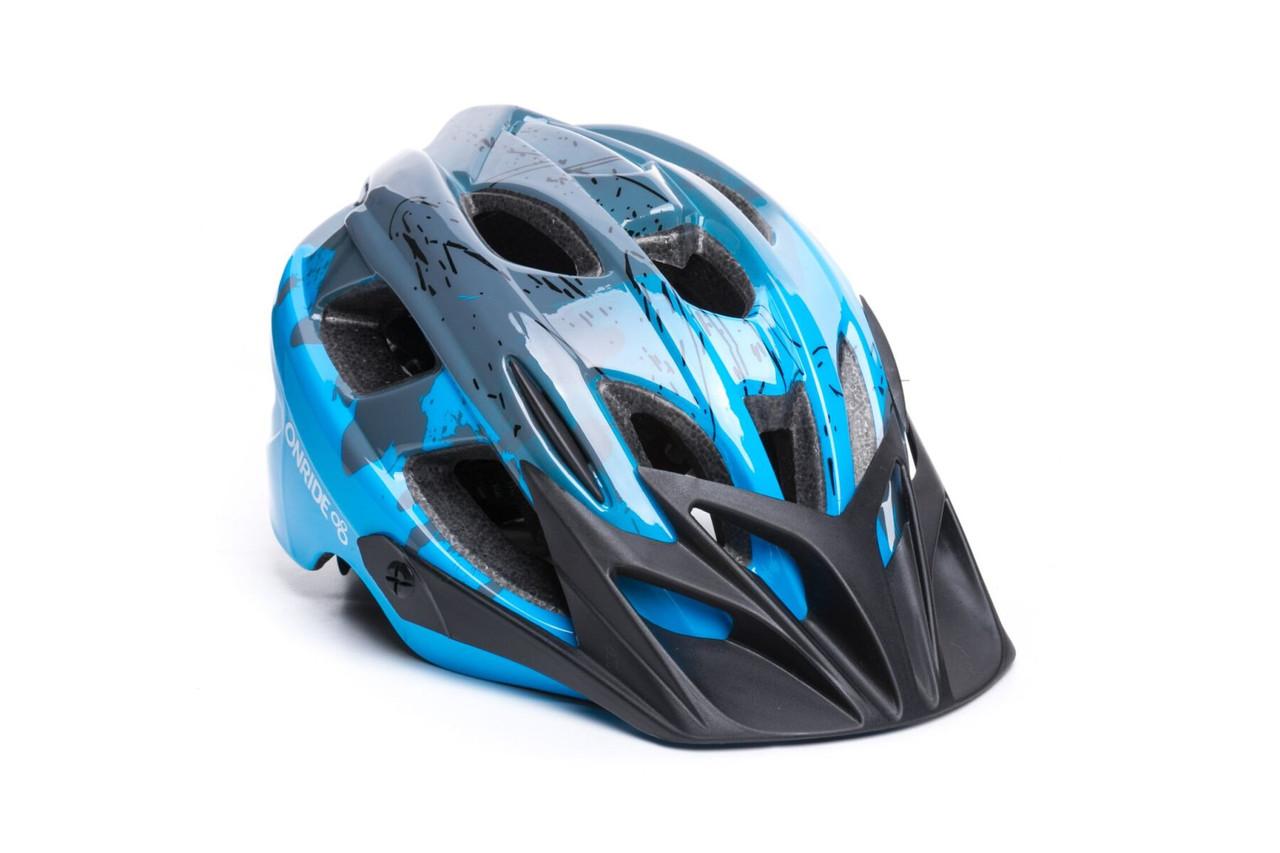 Шолом ONRIDE Rider глянцевий сірий/блакитний M (52-56 см), M (52 - 56 см)