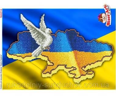 Схема для вишивки бісером Бисер-Арт Карта України (А514)