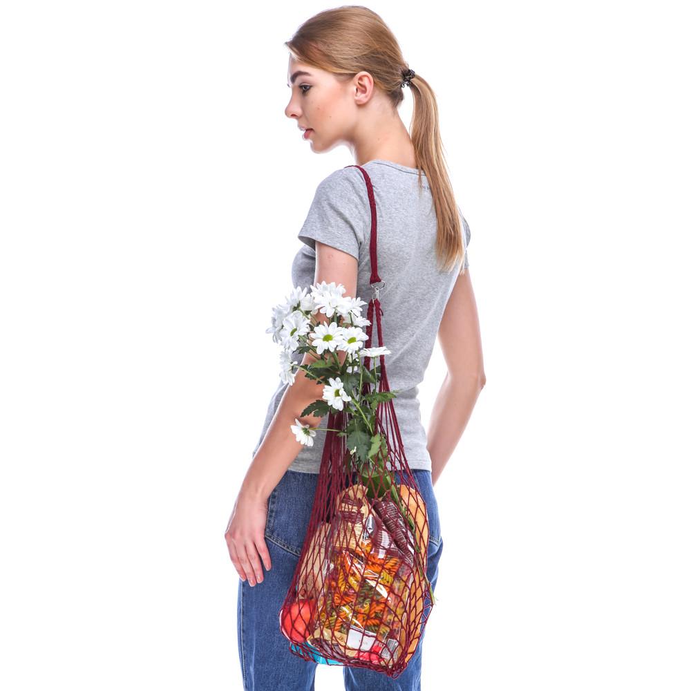 Французская сумка - сумка на плечо - Авоська на плечо - Модная эко сумка