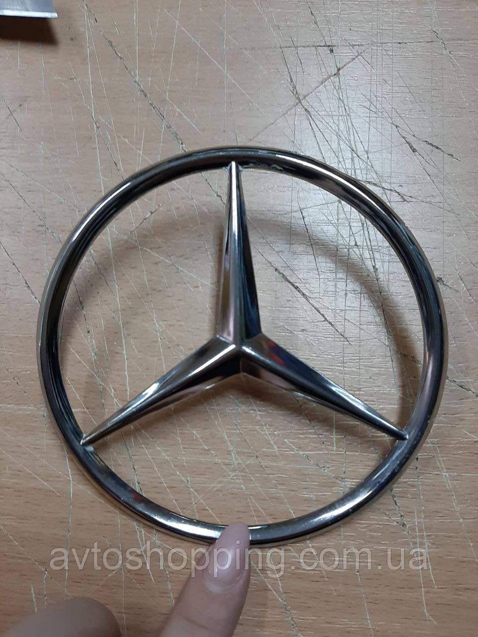 Эмблема на багажник 115 мм, Mercedes прицел кузов 123, 124, 126, 190 на болт