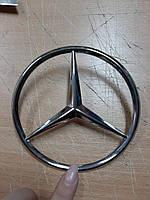 Эмблема на багажник 115 мм, Mercedes прицел кузов 123, 124, 126, 190 на болт, фото 1