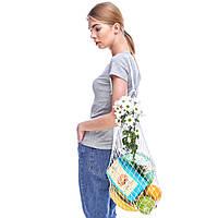 Французская сумка - сумка на плечо - Авоська на плечо - Модная эко сумка, фото 1