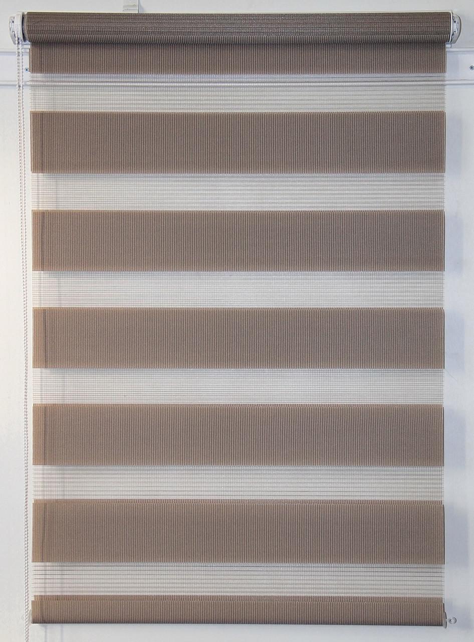 Готовые рулонные шторы 900*1300 Ткань ВН-02 Светло-коричневый
