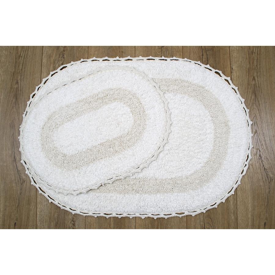 Набор ковриков Irya - Viola ekru кремовый 60*90+40*60
