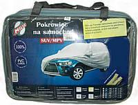 Тент автомобильный MILEX JEEP PEVA+PP Cotton XXL ( серый+зеркало+замок)