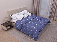 Комплект постельного белья двуспального на резинке 180х220 см ранфорс TM KRISPOL