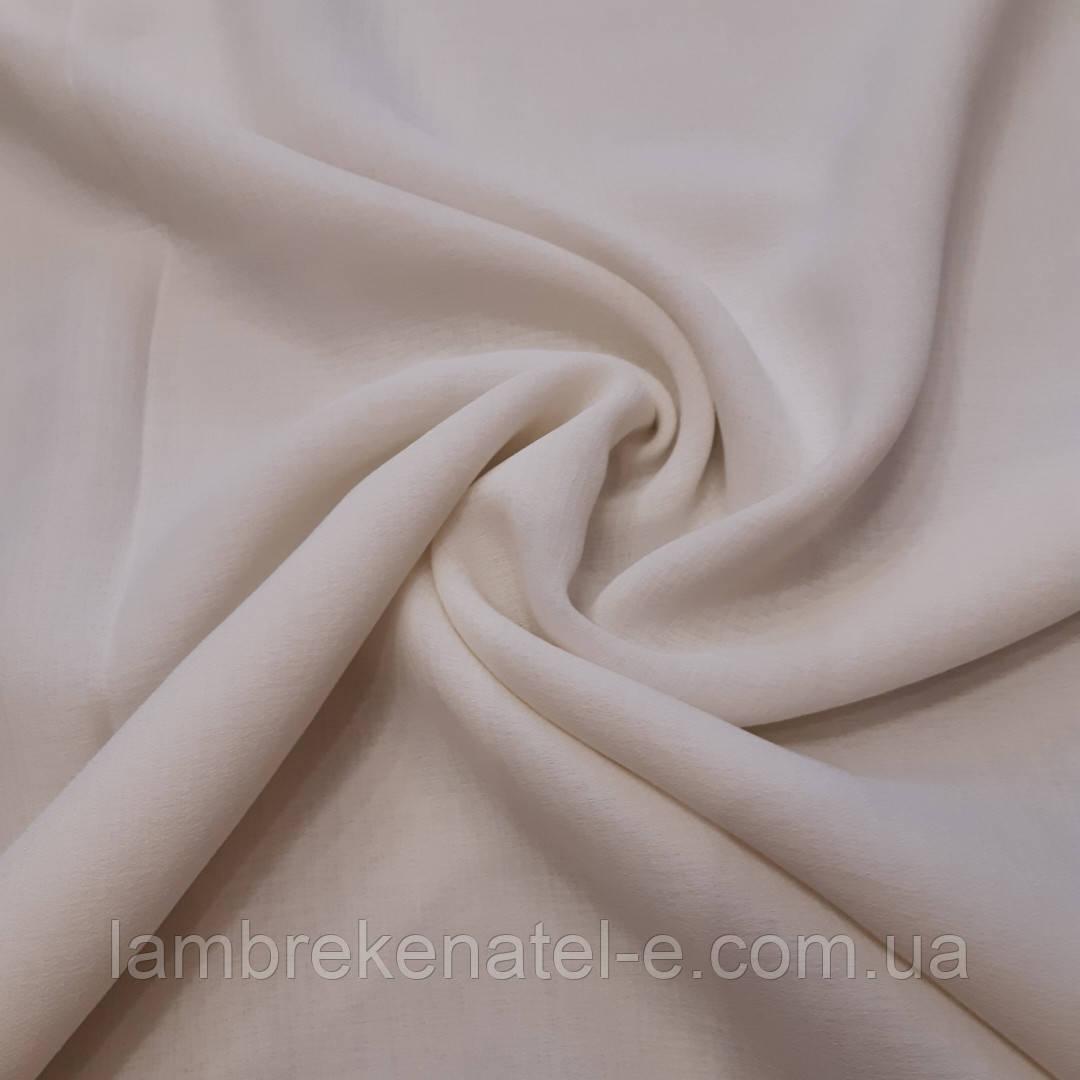 Тюль в зал лен однотонный цвет молочный