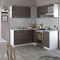 Vicco угловая кухня Rick, кухонный блок, комплект мебели на кухню 190 см, цвет Дакар